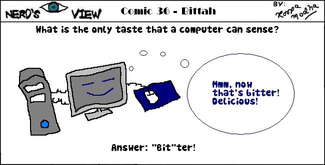 Nerd's Eye View Comic: #36 Bitter