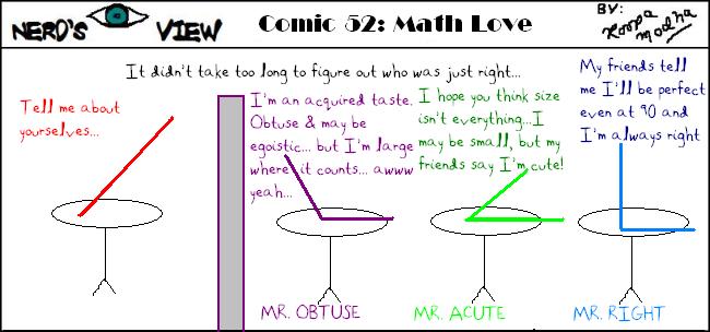 Nerd's Eye View Comic: #52 Math Love