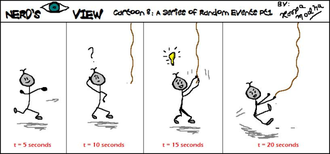 Nerd's Eye View Comic: #8 A Series of Random Events Part 1
