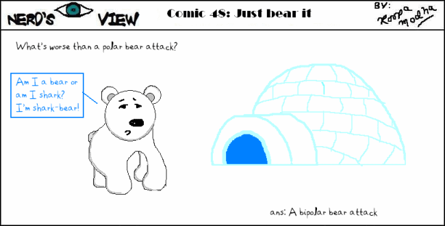 Nerd's Eye View Comic: #48 Just Bear It
