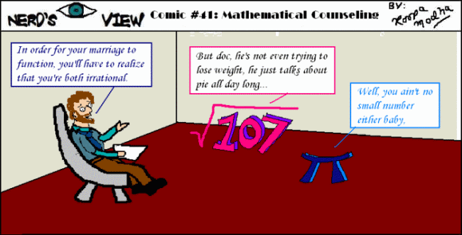 Nerd's Eye View Comic: #41 Marriage Counseling
