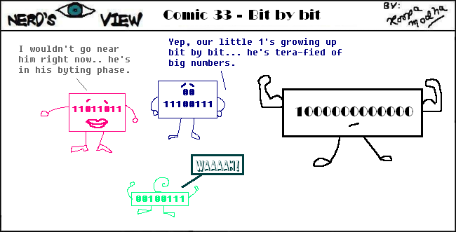 Nerd's Eye View Comic: #33 Bit by Bit