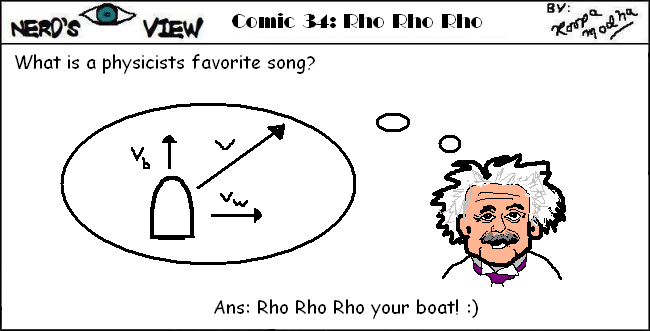 Nerd's Eye View Comic: #34 Rho Rho Rho