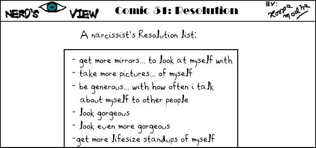 Nerd's Eye View Comic: #51 New Year's Resolutions